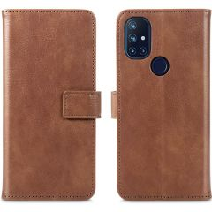 iMoshion Luxe Booktype OnePlus Nord N10 5G - Bruin