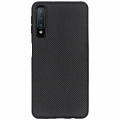 Carbon Softcase Backcover Samsung Galaxy A7 (2018)