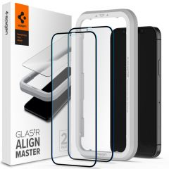 Spigen AlignMaster Full Screenprotector 2 Pack iPhone 12 (Pro)