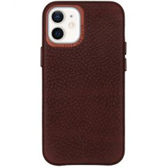 Decoded Leather Backcover iPhone 12 Mini - Chocolate Brown