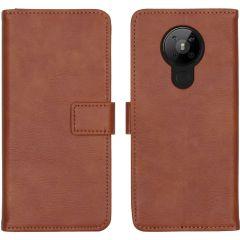 iMoshion Luxe Booktype Nokia 5.3 - Bruin
