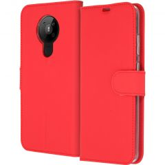 Accezz Wallet Softcase Booktype Nokia 5.3 - Rood