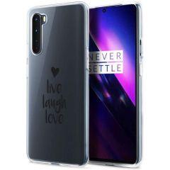 iMoshion Design hoesje OnePlus Nord - Live Laugh Love - Zwart