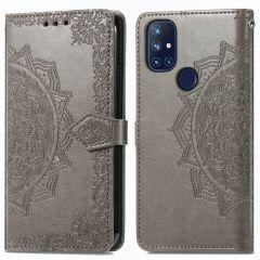 iMoshion Mandala Booktype OnePlus Nord N10 5G - Grijs
