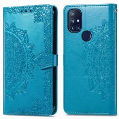 iMoshion Mandala Booktype OnePlus Nord N10 5G - Turquoise