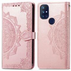 iMoshion Mandala Booktype OnePlus Nord N10 5G - Rosé Goud