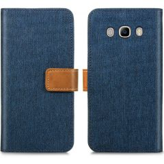 iMoshion Luxe Canvas Booktype Samsung Galaxy J5 (2016) - Donkerblauw