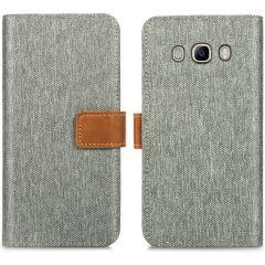 iMoshion Luxe Canvas Booktype Samsung Galaxy J5 (2016) - Grijs
