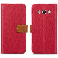 iMoshion Luxe Canvas Booktype Samsung Galaxy J5 (2016) - Rood