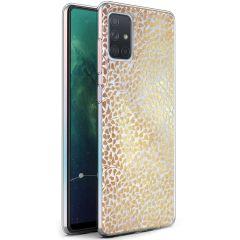 iMoshion Design hoesje Samsung Galaxy A71 - Grafisch - Goud