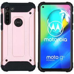 iMoshion Rugged Xtreme Backcover Motorola Moto G8 Power - Rosé Goud