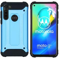 iMoshion Rugged Xtreme Backcover Motorola Moto G8 Power - Lichtblauw
