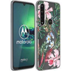 iMoshion Design hoesje Motorola Moto G8 Power - Jungle - Groen / Roze