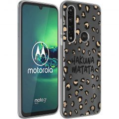 iMoshion Design hoesje Motorola Moto G8 Power - Luipaard - Bruin
