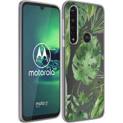 iMoshion Design hoesje Motorola Moto G8 Power - Bladeren - Groen