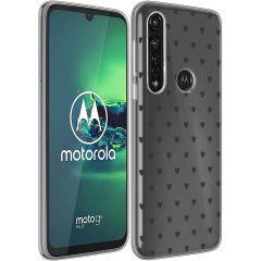 iMoshion Design hoesje Motorola Moto G8 Power - Hartjes - Zwart