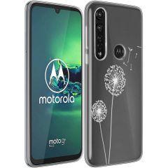 iMoshion Design hoesje Motorola Moto G8 Power - Paardenbloem - Wit