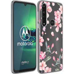 iMoshion Design hoesje Motorola Moto G8 Power - Bloem - Roze