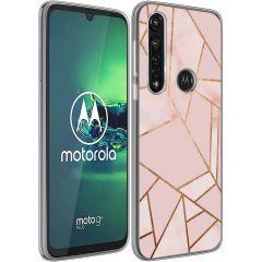 iMoshion Design hoesje Motorola Moto G8 Power - Grafisch Koper - Roze