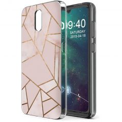 iMoshion Design hoesje Nokia 2.3 - Grafisch Koper - Roze / Goud