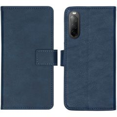 iMoshion Luxe Booktype Sony Xperia 10 II - Donkerblauw
