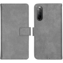 iMoshion Luxe Booktype Sony Xperia 10 II - Grijs