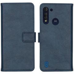iMoshion Luxe Booktype Motorola Moto G8 Power Lite - Donkerblauw