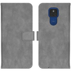 iMoshion Luxe Booktype Motorola Moto E7 Plus / G9 Play - Grijs