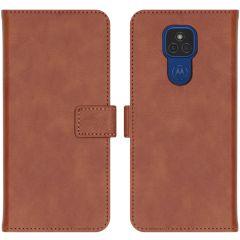 iMoshion Luxe Booktype Motorola Moto E7 Plus / G9 Play- Bruin