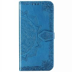 Mandala Booktype Motorola Moto E7 Plus / G9 Play - Turquoise