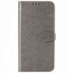 Mandala Booktype Motorola Moto E7 Plus / G9 Play - Grijs