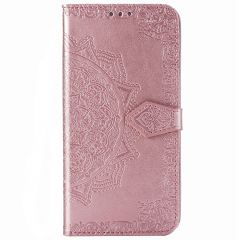 Mandala Booktype Motorola Moto E7 Plus / G9 Play - Rosé Goud