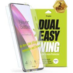 Ringke Dual Easy Wing Screenprotector Duo Pack OnePlus 8