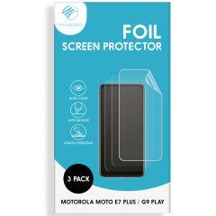 iMoshion Screenprotector Folie 3 pack Motorola Moto E7 Plus / G9 Play