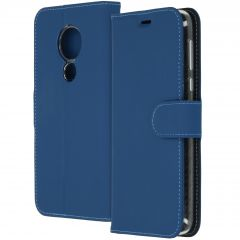 Accezz Wallet Softcase Booktype Moto G7 Power - Donkerblauw