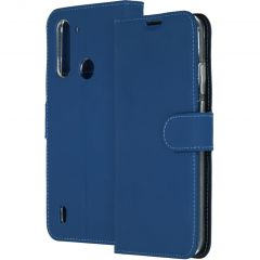 Accezz Wallet Softcase Booktype Motorola Moto G8 Power Lite - Blauw