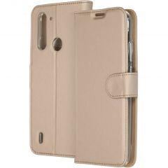 Accezz Wallet Softcase Booktype Motorola Moto G8 Power Lite - Goud