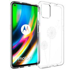 iMoshion Design hoesje Motorola Moto G9 Plus - Paardenbloem - Wit