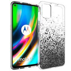 iMoshion Design hoesje Motorola Moto G9 Plus - Spetters - Zwart