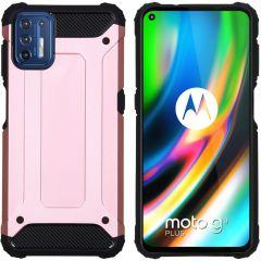 iMoshion Rugged Xtreme Backcover Motorola Moto G9 Plus - Rosé Goud