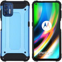 iMoshion Rugged Xtreme Backcover Motorola Moto G9 Plus - Lichtblauw