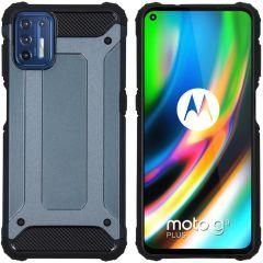 iMoshion Rugged Xtreme Backcover Motorola Moto G9 Plus - Donkerblauw