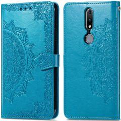 iMoshion Mandala Booktype Nokia 2.4 - Turquoise