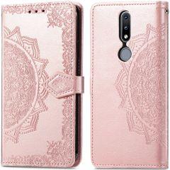 iMoshion Mandala Booktype Nokia 2.4 - Rosé Goud