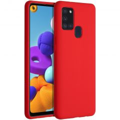 Accezz Liquid Silicone Backcover Samsung Galaxy A21s - Rood