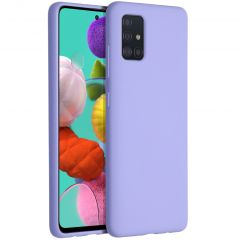 Accezz Liquid Silicone Backcover Samsung Galaxy A51 - Paars