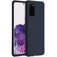 Accezz Liquid Silicone Backcover Samsung Galaxy S20 Plus - Blauw