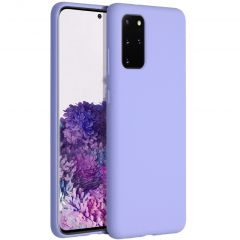 Accezz Liquid Silicone Backcover Samsung Galaxy S20 Plus - Paars