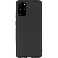Carbon Softcase Backcover Samsung Galaxy S20 Plus - Zwart