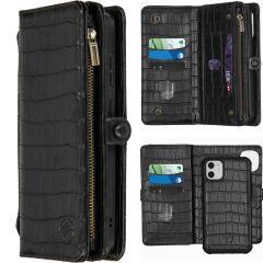 iMoshion 2-in-1 Wallet Booktype iPhone 11 - Black Crocodile